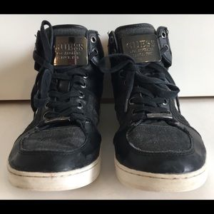 Guess Shoes - GUESS Men's Metal Buckle High Top Sneakers